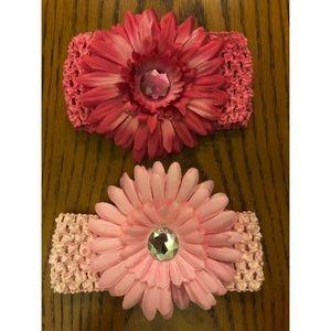 Infant Pink Floral Headbands